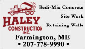 Haley Construction offers a wide range of products and services including the delivery of Ready-Mix concrete, delivery and installation of Redi-Rock® large-block retaining walls, as well as groundwork and excavation.
