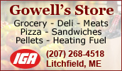 We are your local Shurfine supermarket. Whether you're shopping for everything on your grocery list or just need a few specialty items, Gowell's Store will meet your needs.